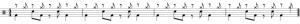 rythme joué avec la cymbale sur les contre-temps